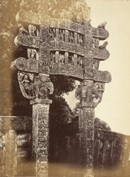 Front view of northern torana or gateway, Sanchi Tope